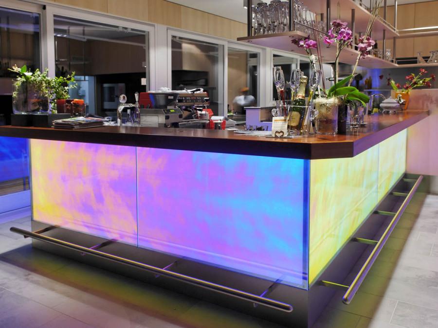 LED-Flächenlicht Hinterleuchtung von dichroitischem Glas