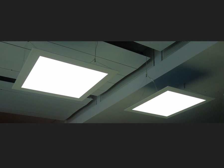 LED-Flächenlicht Pendelleuchte im Sonderrahmen