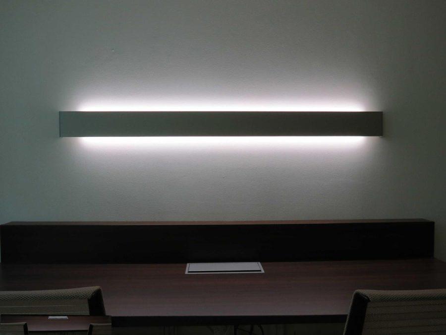 LED-Wandleuchte Sonderanfertigung Direkt-Indirekt-Leuchte
