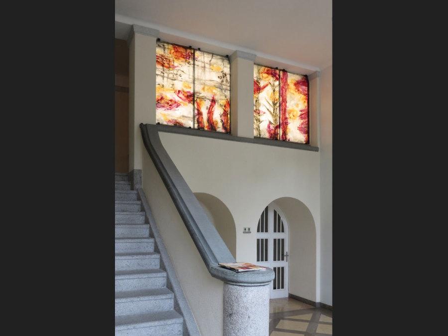 LED-Flächenlicht - Hinterleuchtung Glasdruck des Künstlers Horst Thürheimer