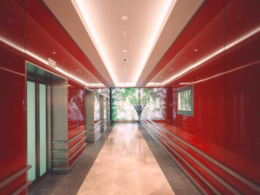 LED-Flächenlicht Durchleuchtung Bildwand Glasdruc