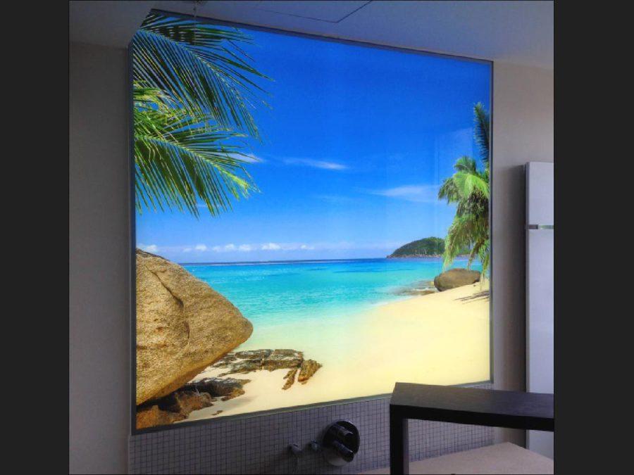 LED-Flächenlicht Hinterleuchtung Glasdruck